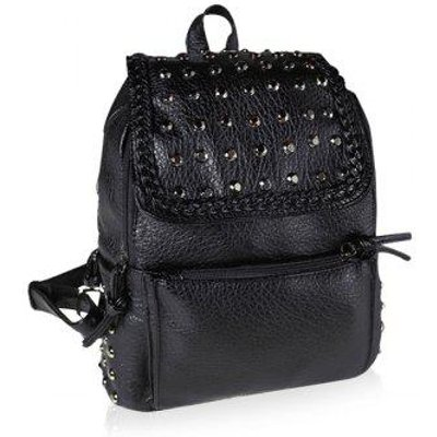 Casual Rivet and Black Design Women's Satchel