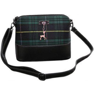 Leisure Plaid and Pandent Design Women's Crossbody Bag