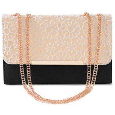 Lace Chains Color Block Crossbody Bag