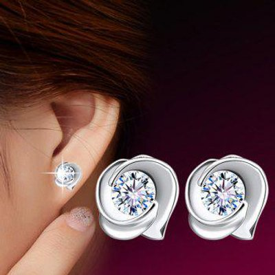 Fake Crystal Rose Alloy Earrings
