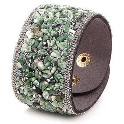 Natural Stone Artificial Leather Bracelet