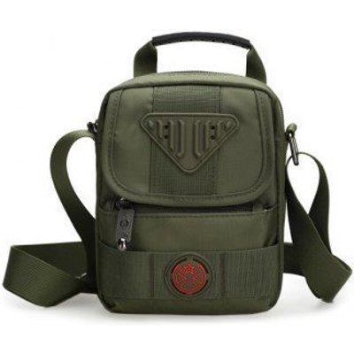 Nylon Zipper Dark Colour Crossbody Bag