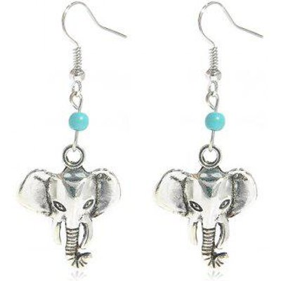 Faux Turquoise Elephant Earrings