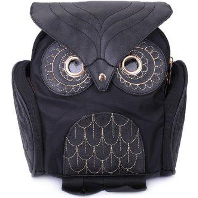 Stylish Owl Shape Solid Color Design Satchel for Women