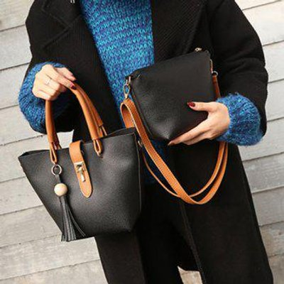 Small Crossbody Bag and Tassels Tote