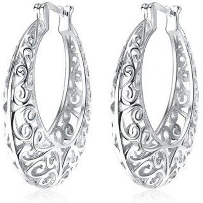 Hollow Out Hoop Earrings