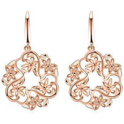 Hollowed Floral Hook Earrings