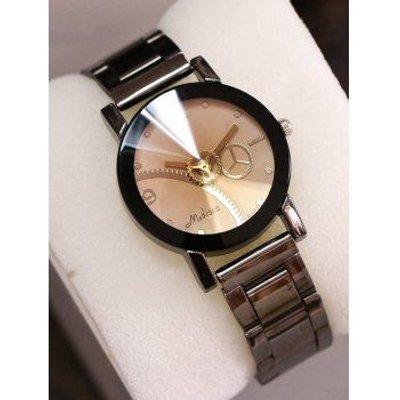Stainless Steel Band Gear Quartz Watch