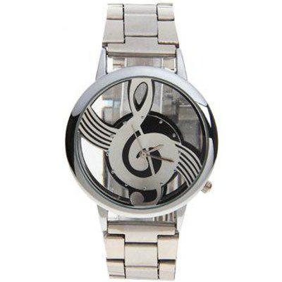 Stainless Steel Music Note Dial Watch