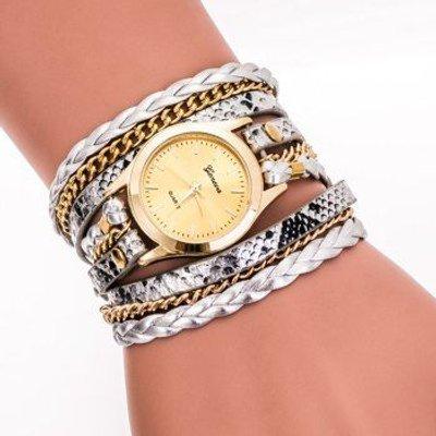 Analog Wrap Bracelet Watch