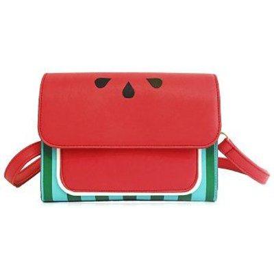 Flap Watermelon Print Crossbody Bag