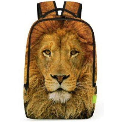 3D Lion Print Backpack