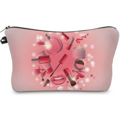 3D Cosmetics Print Makeup Clutch Bag