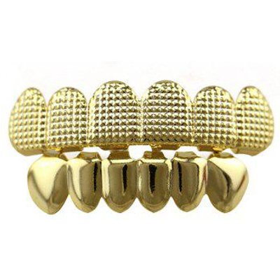 Hip Hop Top Bottom Teeth Cool Grillz Set