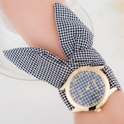 Ribbon Strap Number Bracelet Watch