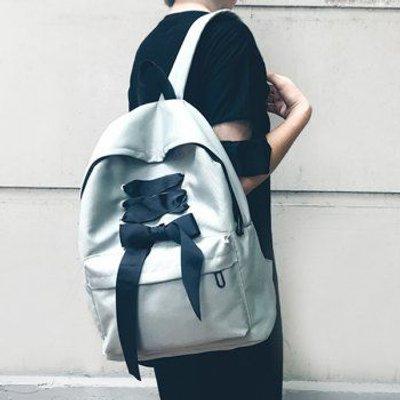 Color Block Ribbon Backpack