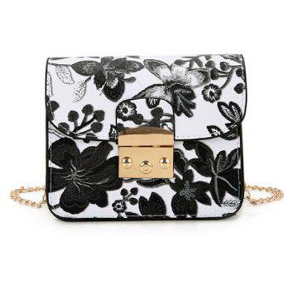 Chain Floral Crossbody Bag