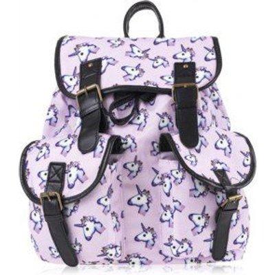 Buckles Unicorn Print Backpack