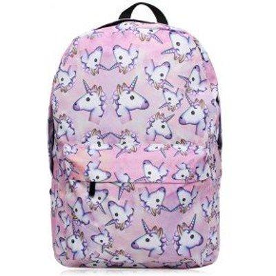 Cartoon Unicorn Print Backpack