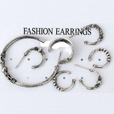 Punk Rock 7 Pieces Hoop Earrings