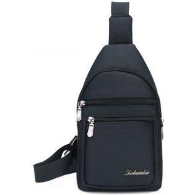 Zippers Nylon Front Crossbody Bag