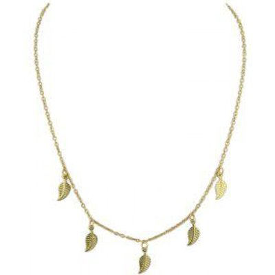 Charm Alloy Leaf Chain Necklace