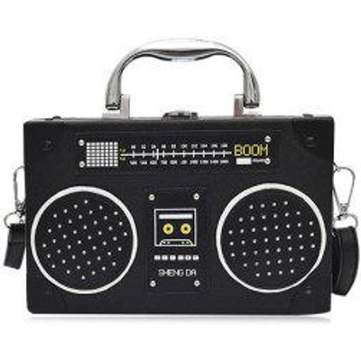 Radio Shaped PU Leather Crossbody Bag