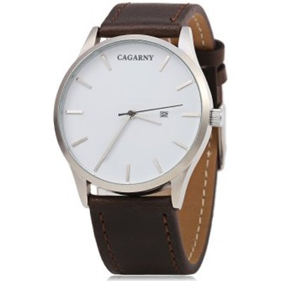 CAGARNY 6850 Business Style Male Quartz Watch with Big Dial