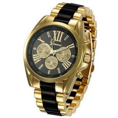 Roman Numerals Adorn Steel Watch