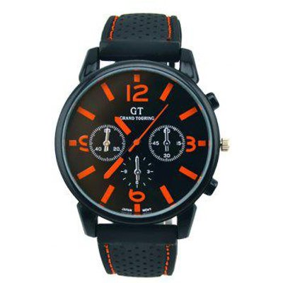 Vintage Silicone Big Dial Quartz Watch