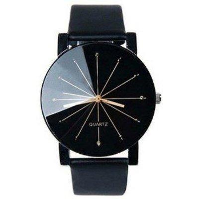 Geometric Ray PU Leather Watch