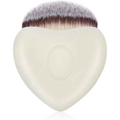 Stylish Heart Shape Synthetic Hair Contour Foundation Brush