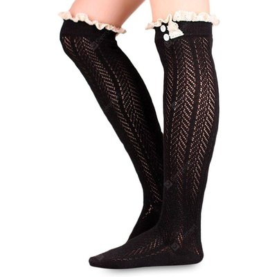 Girls Lace Knitted Knee Socks
