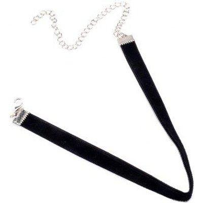 Velvet Adjustable Alloy Chokers Necklace