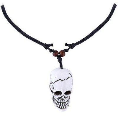 Resin Skull Pendant Necklace