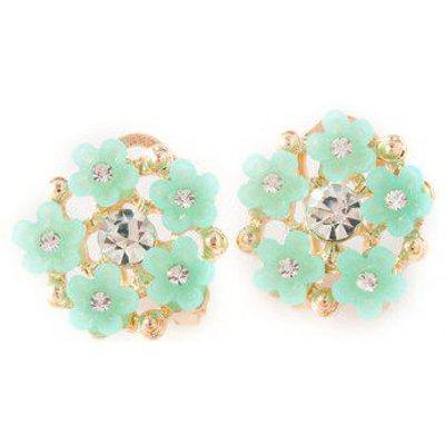 Rhinestone Flower Stud Earrings