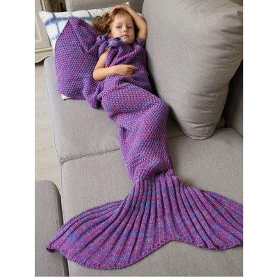 Winter Sleeping Bag Bed Throw Wrap Mermaid Blanket, Purple