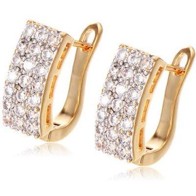 Geometric Rhinestoned Earrings