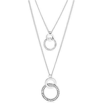 Vintage Interlocking Layered Rhinestone Necklace
