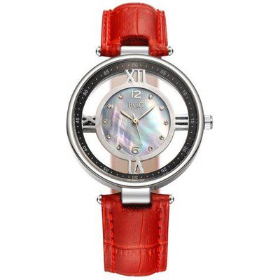 Hollow Out Double Scale Watch with Quartz Movement