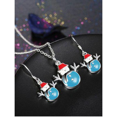 Christmas Snowman Enamel Jewelry Set