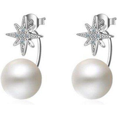 Faux Pearl Rhinestone Star Ear Jackets