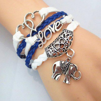 Heart Love Elephant Bracelet
