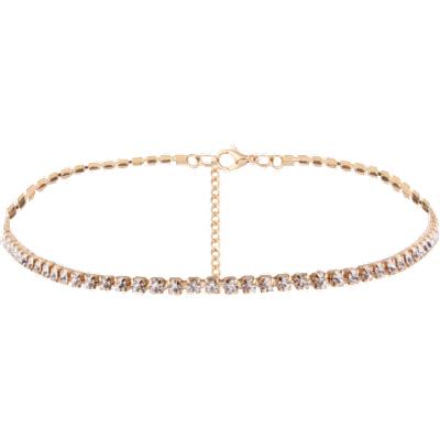 Alloy Chain Rhinestone Necklace