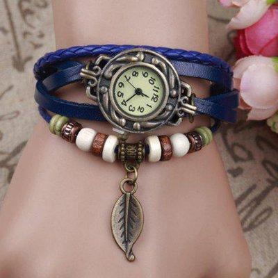 Vintage Tree Leaf Braid Bracelet Watch