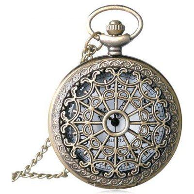 Hollow Out Vintage Quartz Pocket Watch