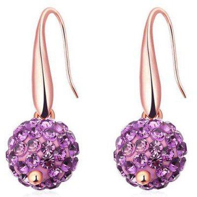 Rhinestoned Ball Drop Earrings