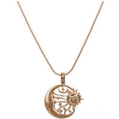 Retro Moon Sun Star Pendant Necklace