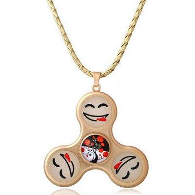 Smile Fidget Spinner Decoration Pendant Necklace