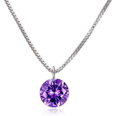 Artificial Gemstone Pendant Necklace